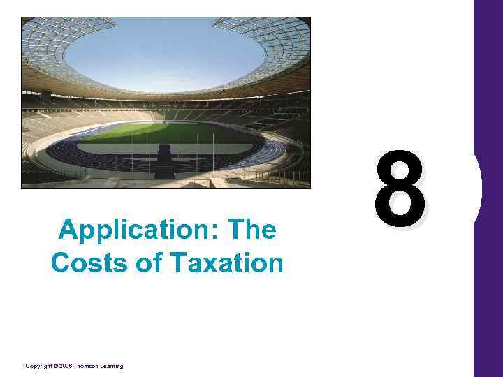 Application: The Costs of Taxation Copyright © 2006 Thomson Learning 8