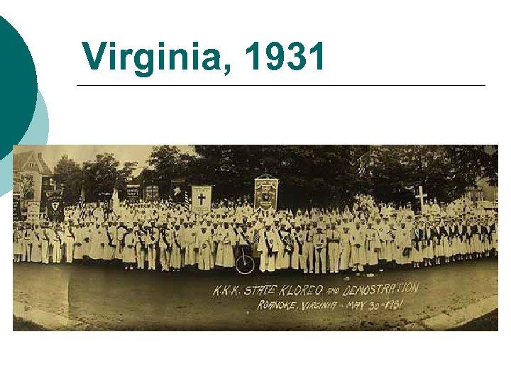 Virginia, 1931