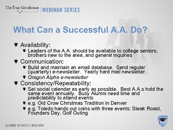 What Can a Successful A. A. Do? Availability: Leaders of the A. A. should