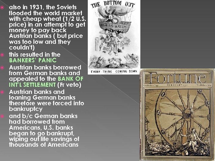 also in 1931, the Soviets flooded the world market with cheap wheat (1/2