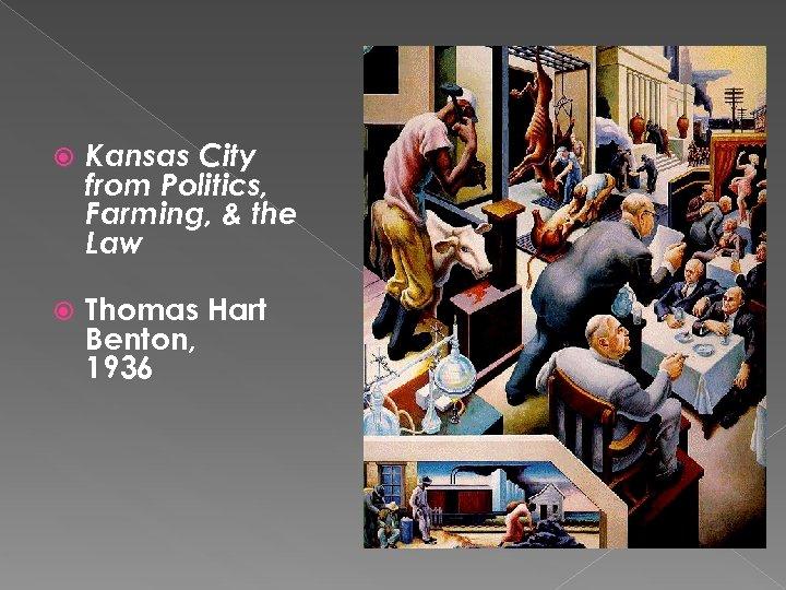 Kansas City from Politics, Farming, & the Law Thomas Hart Benton, 1936