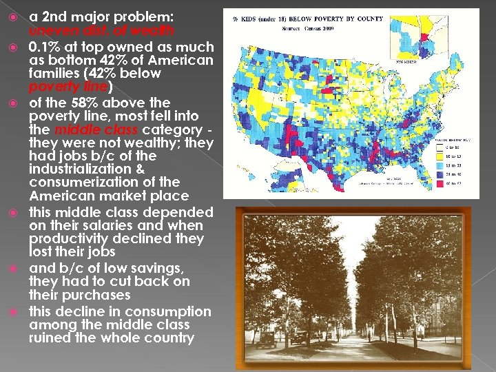 a 2 nd major problem: uneven dist. of wealth 0. 1% at top