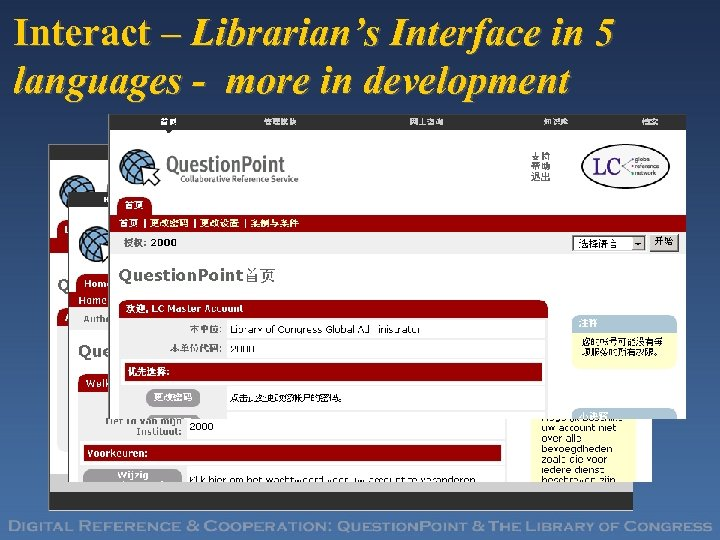 Interact – Librarian's Interface in 5 languages - more in development