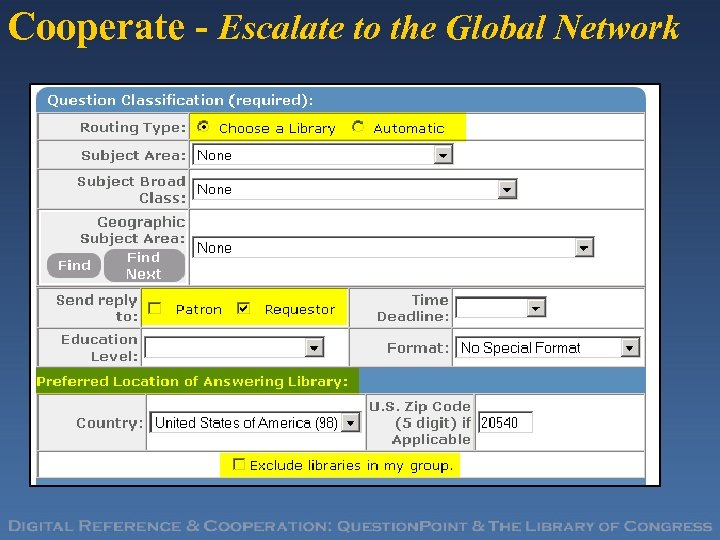 Cooperate - Escalate to the Global Network
