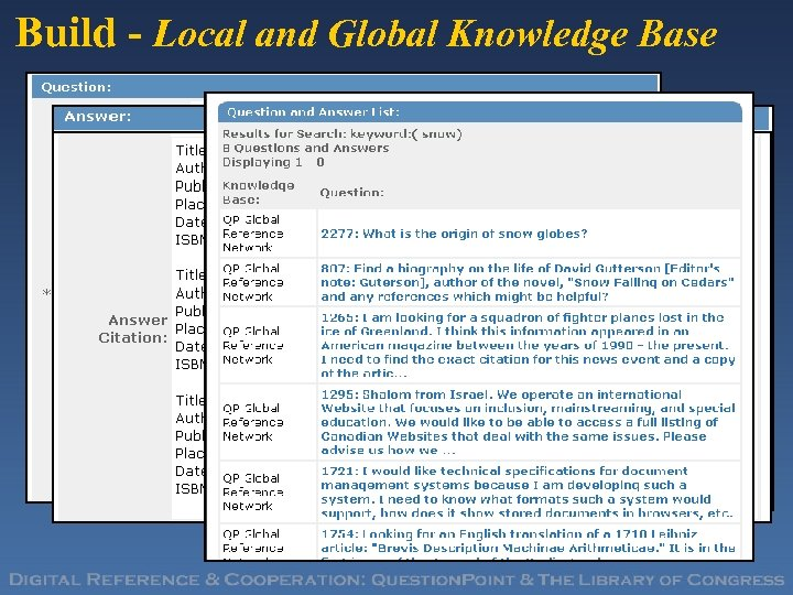 Build - Local and Global Knowledge Base