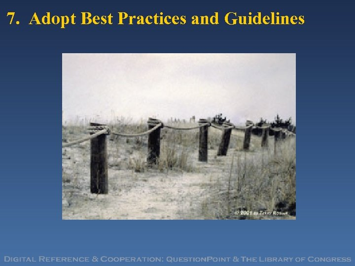 7. Adopt Best Practices and Guidelines