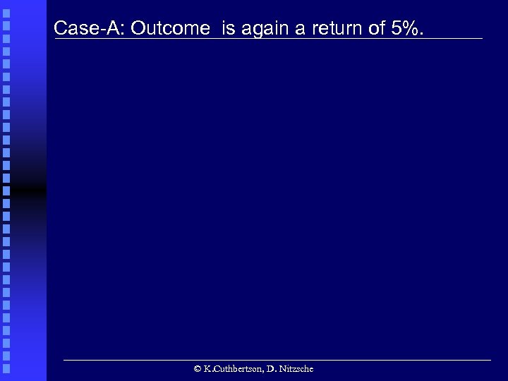 • Case-A: Outcome is again a return of 5%. • © K. Cuthbertson,