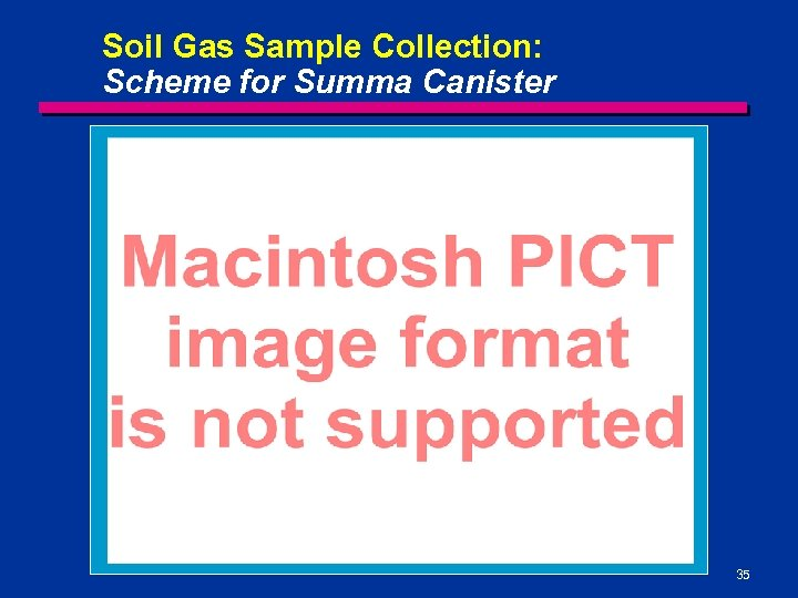 Soil Gas Sample Collection: Scheme for Summa Canister 35