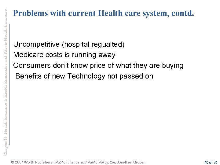 Chapter 15 Health Insurance I: Health Economics and Private Health Insurance Problems with current