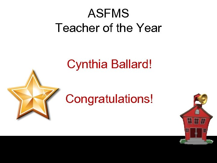 ASFMS Teacher of the Year Cynthia Ballard! Congratulations!