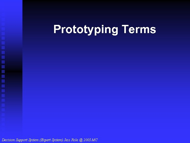 Prototyping Terms