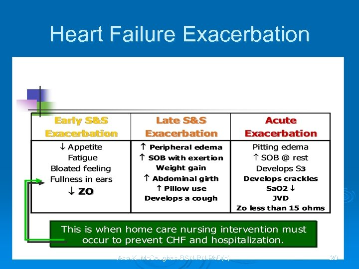Heart Failure Exacerbation Ann K. Mc. Caughan BSN RN Ph. D(c) 20