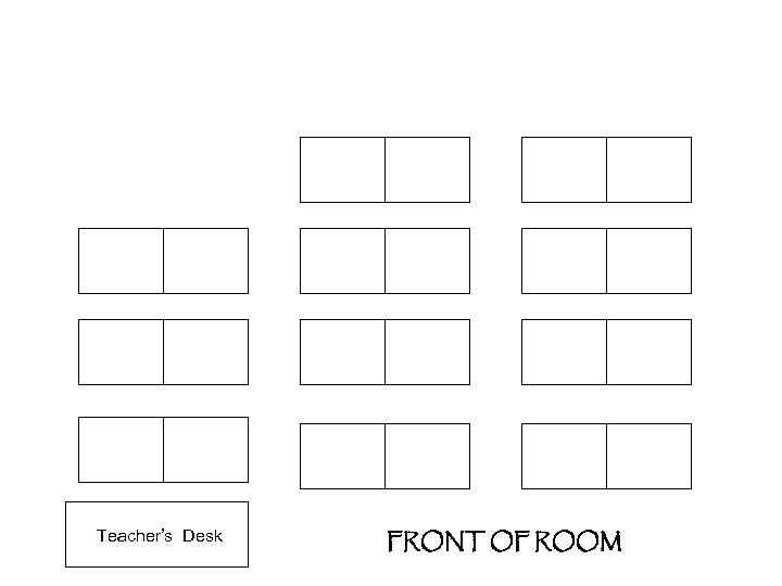 Teacher's Desk FRONT OF ROOM