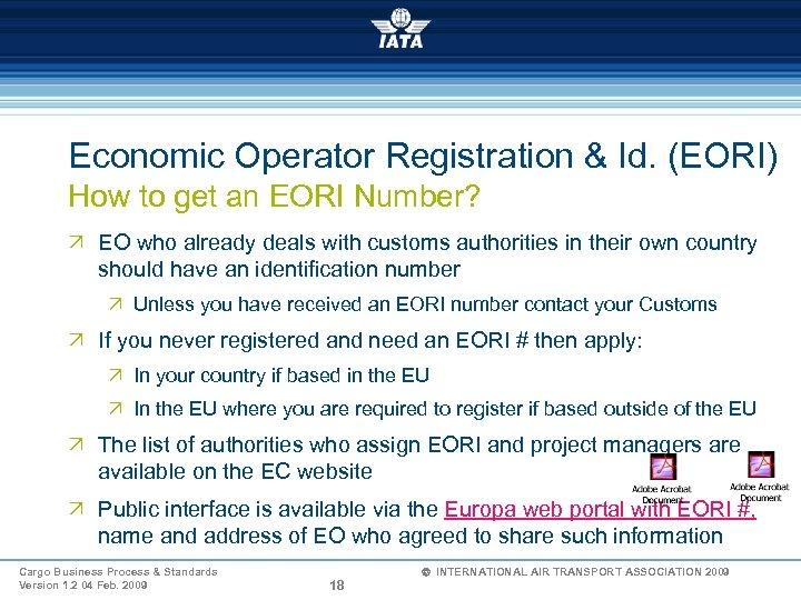 Economic Operator Registration & Id. (EORI) How to get an EORI Number? Ö EO