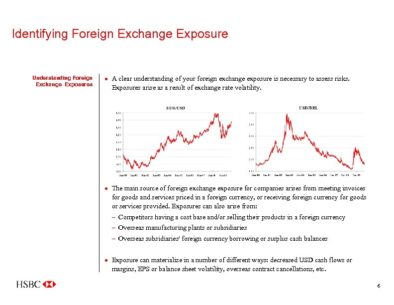 Identifying Foreign Exchange Exposure Understanding Foreign Exchange Exposures · A clear understanding of your