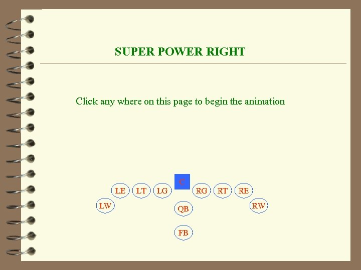 SUPER POWER RIGHT Click any where on this page to begin the animation C
