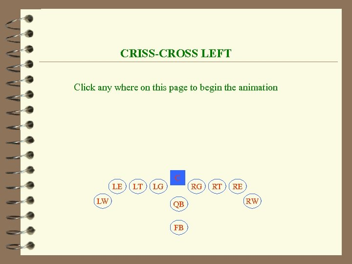 CRISS-CROSS LEFT Click any where on this page to begin the animation C LE