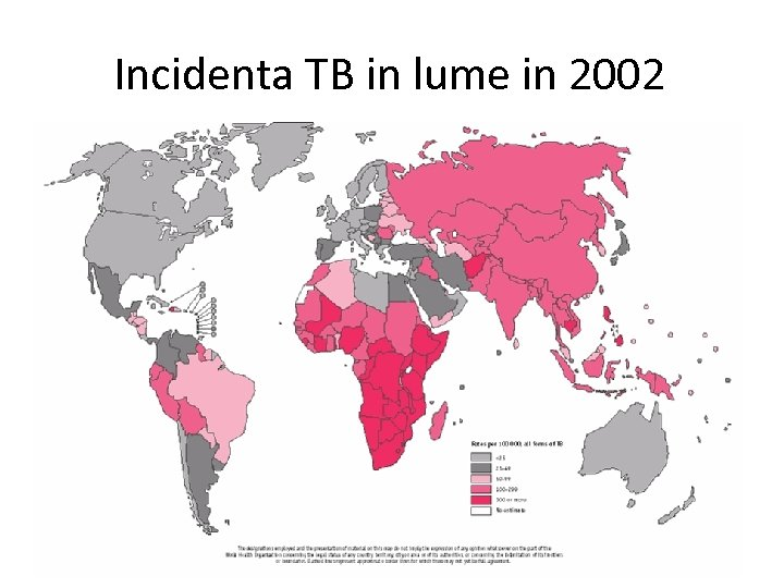 Incidenta TB in lume in 2002
