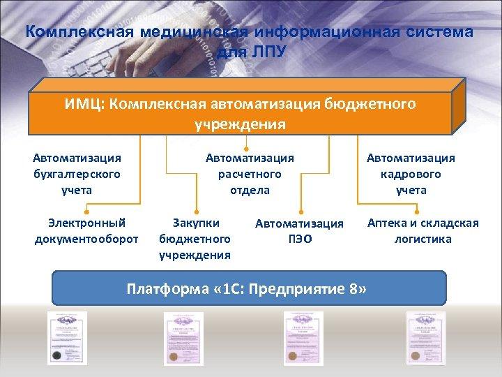 Комплексная медицинская информационная система для ЛПУ ИМЦ: Комплексная автоматизация бюджетного учреждения Автоматизация бухгалтерского учета