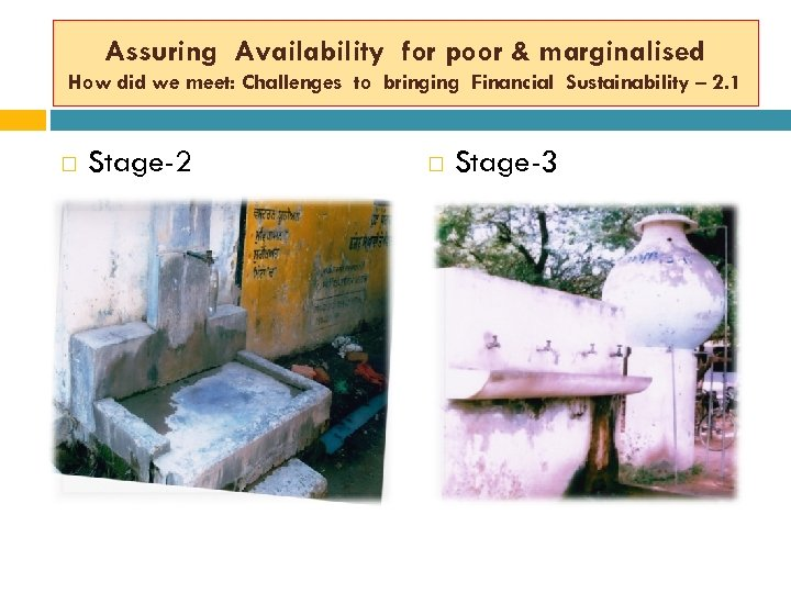 Assuring Availability for poor & marginalised How did we meet: Challenges to bringing Financial