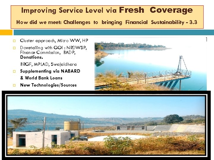Improving Service Level via Fresh Coverage How did we meet: Challenges to bringing Financial