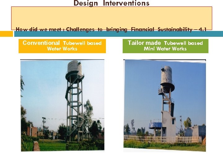 Design Interventions How did we meet : Challenges to bringing Financial Sustainability – 4.