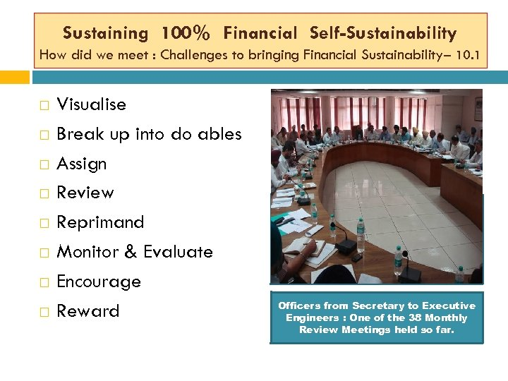 Sustaining 100% Financial Self-Sustainability How did we meet : Challenges to bringing Financial Sustainability