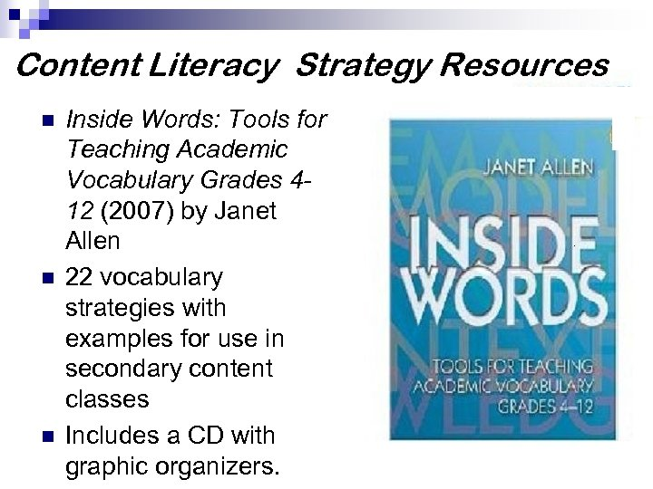 Tools For Teaching Academic Vocabulary Inside Words