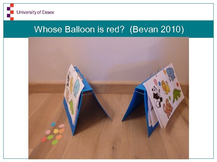 Whose Balloon is red? (Bevan 2010)