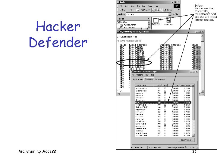 Hacker Defender Maintaining Access 36