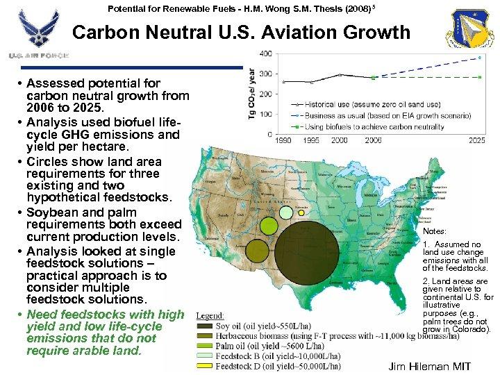 Potential for Renewable Fuels - H. M. Wong S. M. Thesis (2008) 5 Carbon