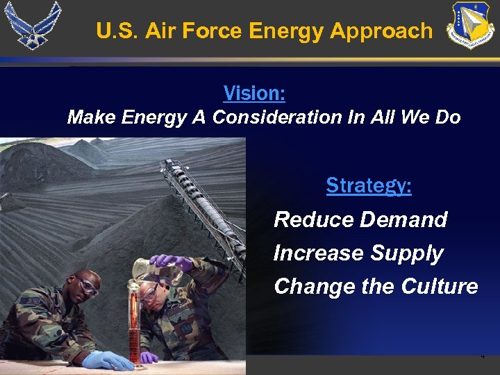 U. S. Air Force Energy Approach Vision: Make Energy A Consideration In All We