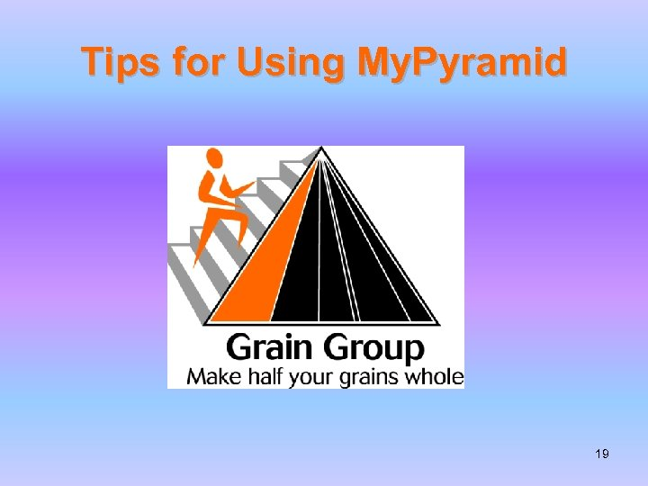 Tips for Using My. Pyramid 19