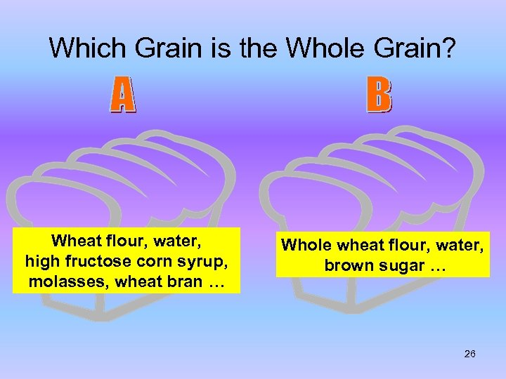 Which Grain is the Whole Grain? Wheat flour, water, high fructose corn syrup, molasses,