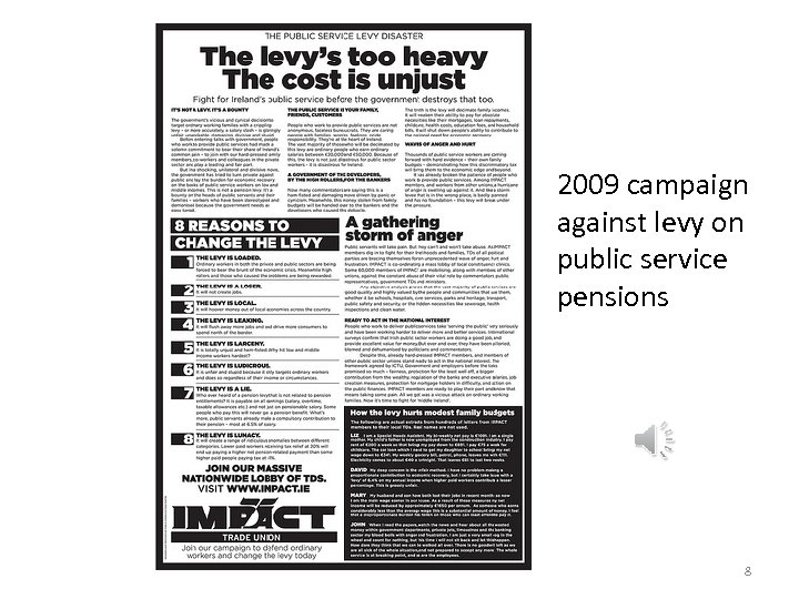 2009 campaign against levy on public service pensions 8