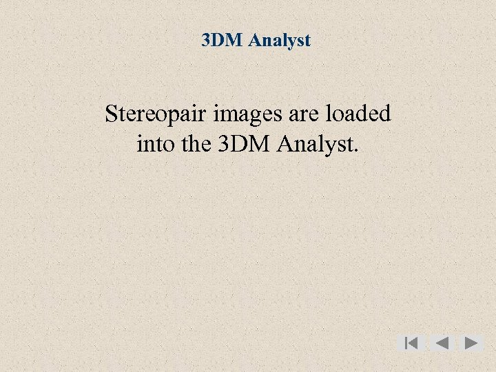 3 DM Analyst Stereopair images are loaded into the 3 DM Analyst.