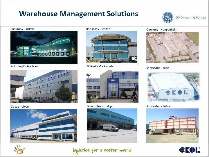 Warehouse Management Solutions Hadımköy - Orkide Sultanbeyli - Kardelen Gebze - Lilyum Samandıra -