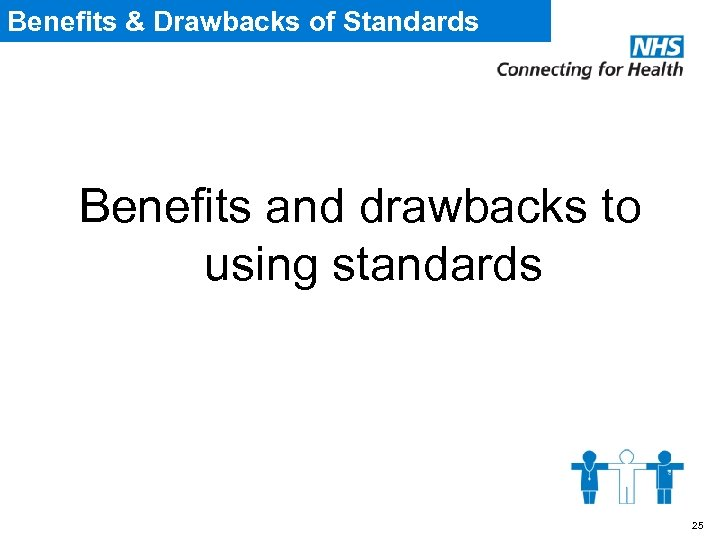 Benefits & Drawbacks of Standards Benefits and drawbacks to using standards 25