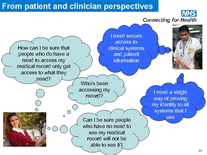 From patient and clinician perspectives How can I be sure that people who do
