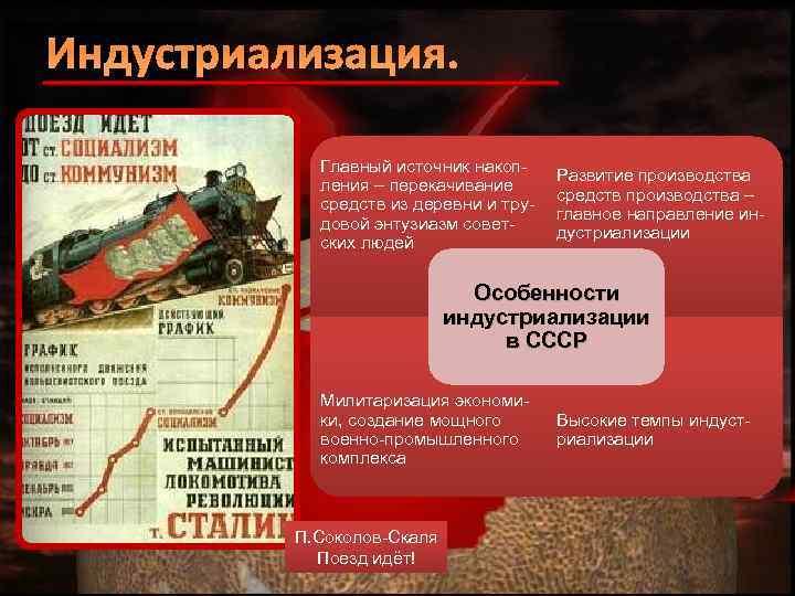 Индустриализация. Главный источник накопления – перекачивание средств из деревни и трудовой энтузиазм советских людей