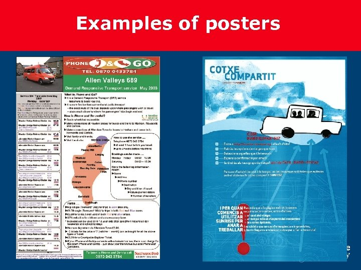 Examples of posters