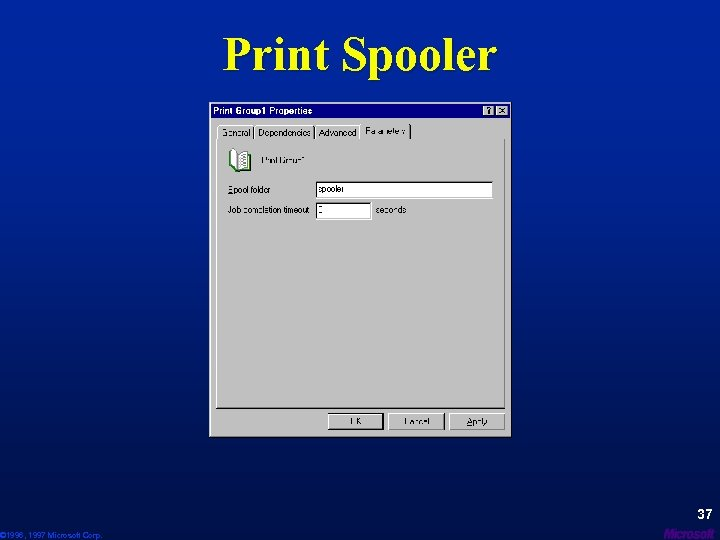 © 1996, 1997 Microsoft Corp. Print Spooler 37