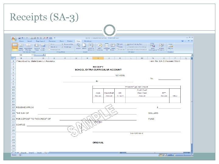 Receipts (SA-3)
