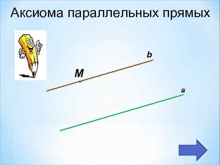 Аксиома параллельных прямых b М а