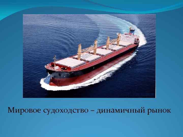 Мировое судоходство – динамичный рынок