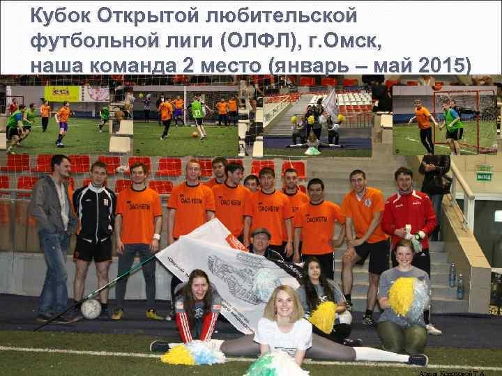 Кубок Открытой любительской футбольной лиги (ОЛФЛ), г. Омск, наша команда 2 место (январь –
