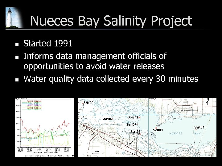 Nueces Bay Salinity Project n n n Started 1991 Informs data management officials of