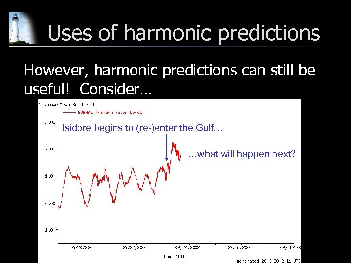 Uses of harmonic predictions However, harmonic predictions can still be useful! Consider… Isidore begins