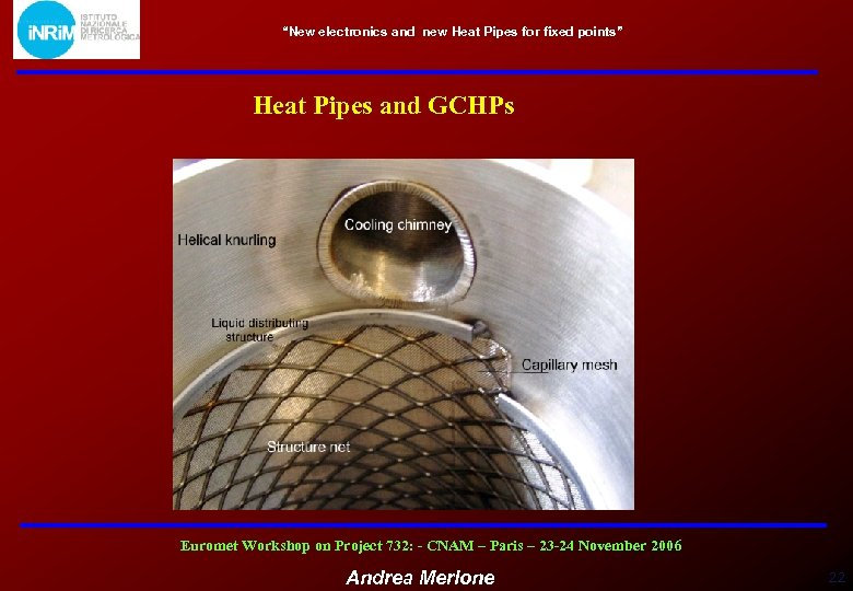 """New electronics and new Heat Pipes for fixed points"" Heat Pipes and GCHPs Euromet"