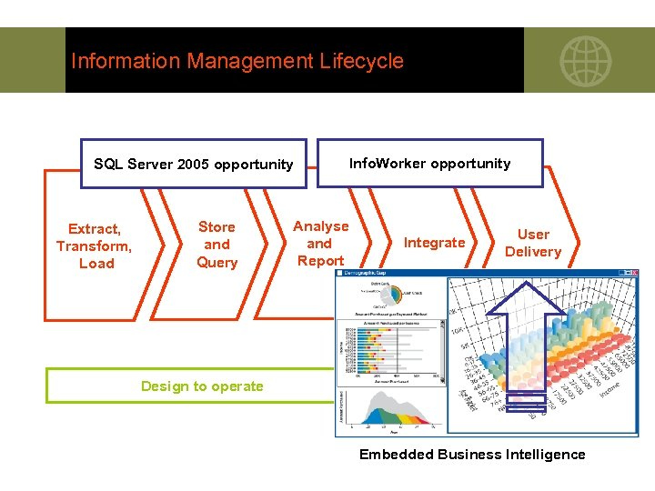Information Management Lifecycle SQL Server 2005 opportunity Extract, Transform, Load Store and Query Analyse